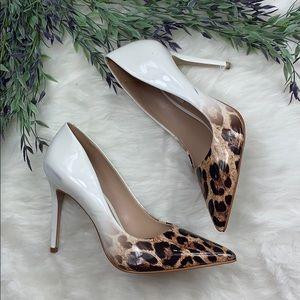 Steve Madden Zoey Point Toe Cheetah Print Heels